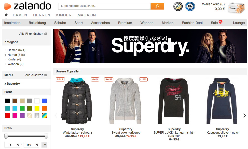 Superdry bei Zalando Sale